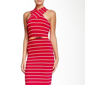 Ted Baker | Canna Crossover Midi Body Con Dress